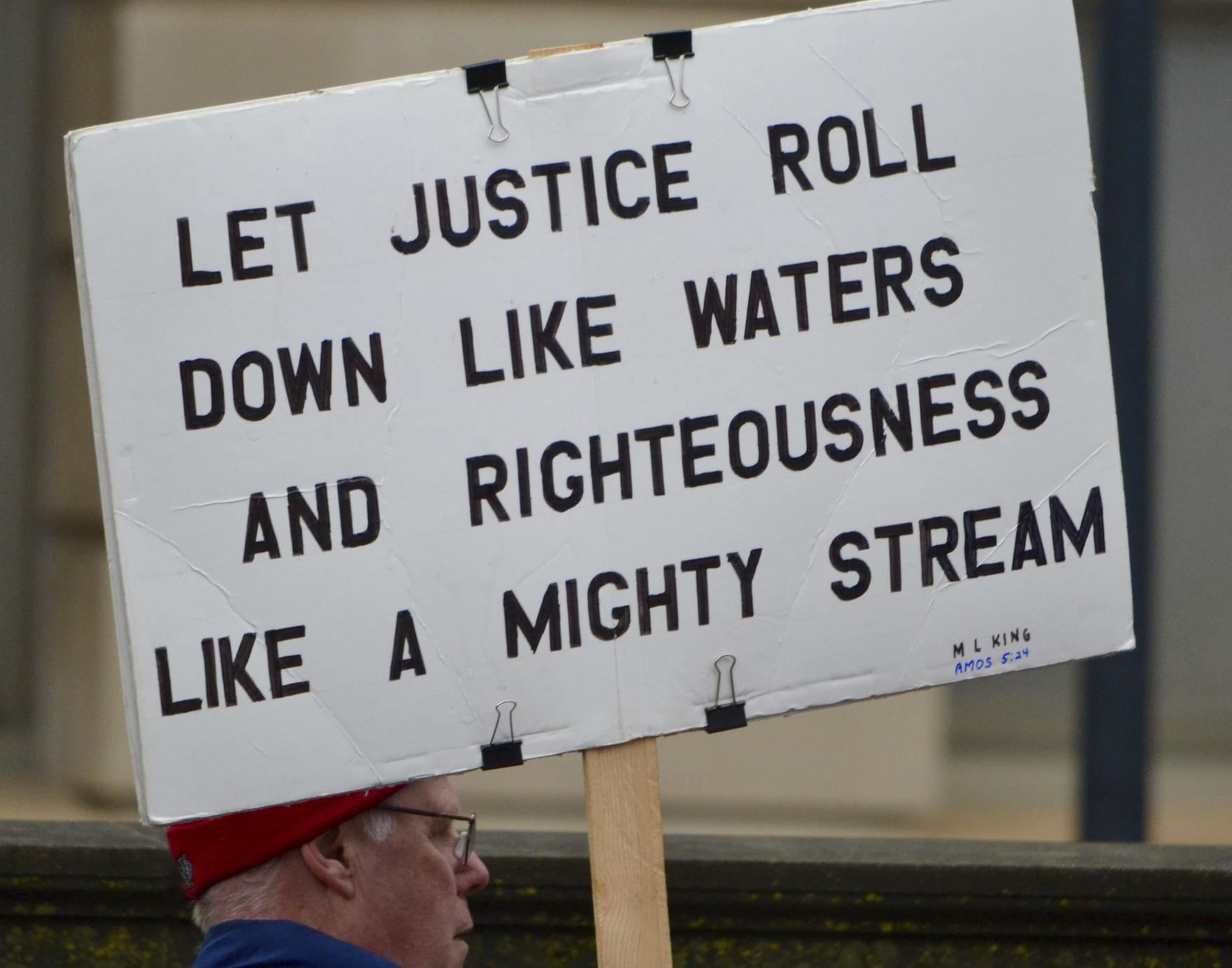 Let Justice Roll Down Like Waters and Righteousness Like a Mighty Stream