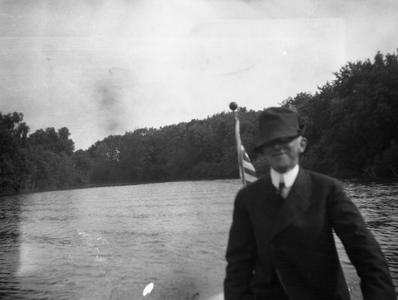 Unidentified man on lake