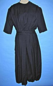 Navy blue wool bloomer-style lady's gym costume