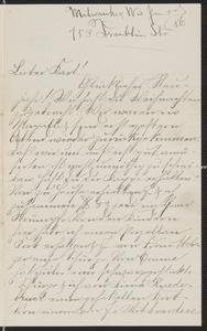 [Letter from Hannah Sternberger to her brother, Karl, January 3, 1886]