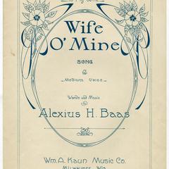 Wife o' mine