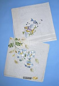 Handkerchiefs with flowers and a butterfly