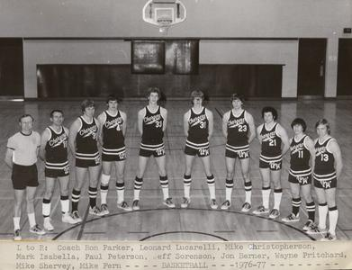 UW Center Barron County basketball team
