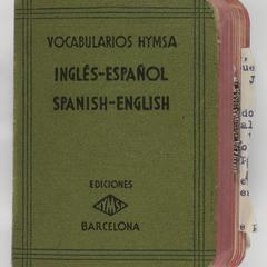 Vocabularios Hymsa, Inglés-Español, Spanish-English