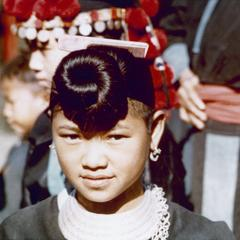Young White Hmong woman in Houa Khong Province