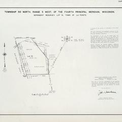 [Public Land Survey System map: Wisconsin Township 50 North, Range 03 West]