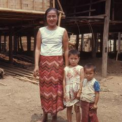 Lao woman and children