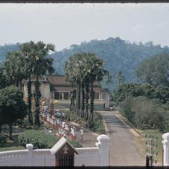 Procession back at palace