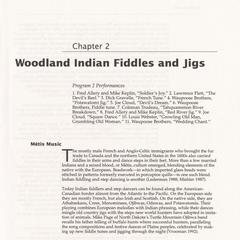 Woodland Indian fiddles and jigs
