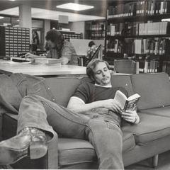 Lounging in the library