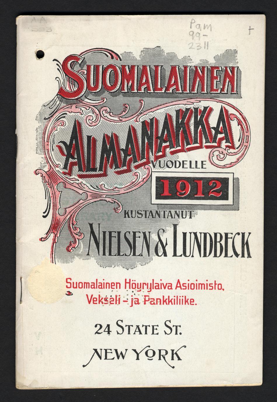 Suomalainen almanakka ja kalenteri. (1 of 2)