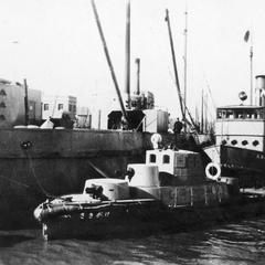 Japanese gunboat named Hoh Sin (He Xing) 和興 docked at Tianjin 天津.