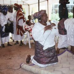 Woman leading prayers