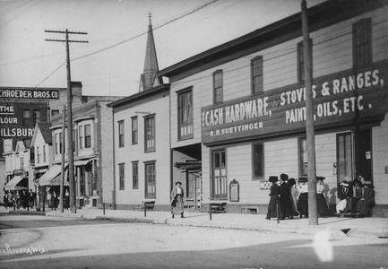 Farmers Institute in March 1910 on Washington Street