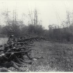 Oregon volunteers practice shooting, Pasig, 1899