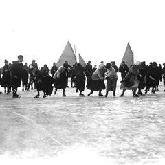 Ice Carnival skating race