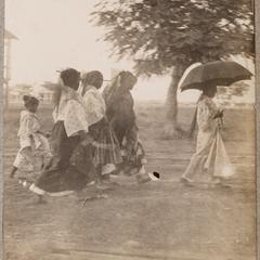Filipino women walking