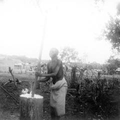 Mashing Cassava