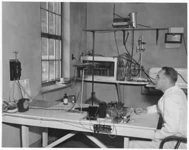 Arthur Hasler researching at Yorktown