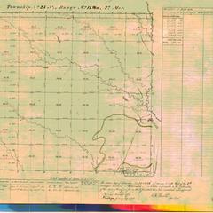 [Public Land Survey System map: Wisconsin Township 25 North, Range 14 West]