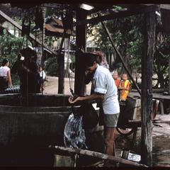 Getting water from well on vat grounds