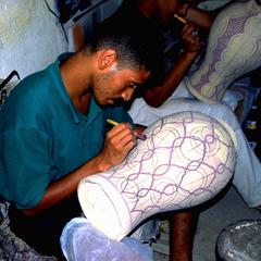 Painting Pottery in Fez