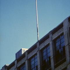 Flagpole atop the American Motors Corporation Engineering building