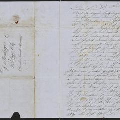 [Letter from Anton Klenert to Jakob Sternberger, February 23, 1853]