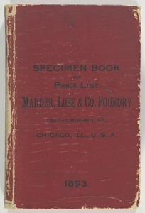 Price list and printers' purchasing guide : Showing specimens of printing type