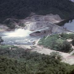 Aerial view Nam Ngum Dam