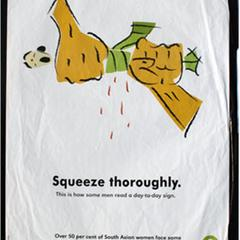 Squeeze thoroughly--this is how some men read a day-to-day sign