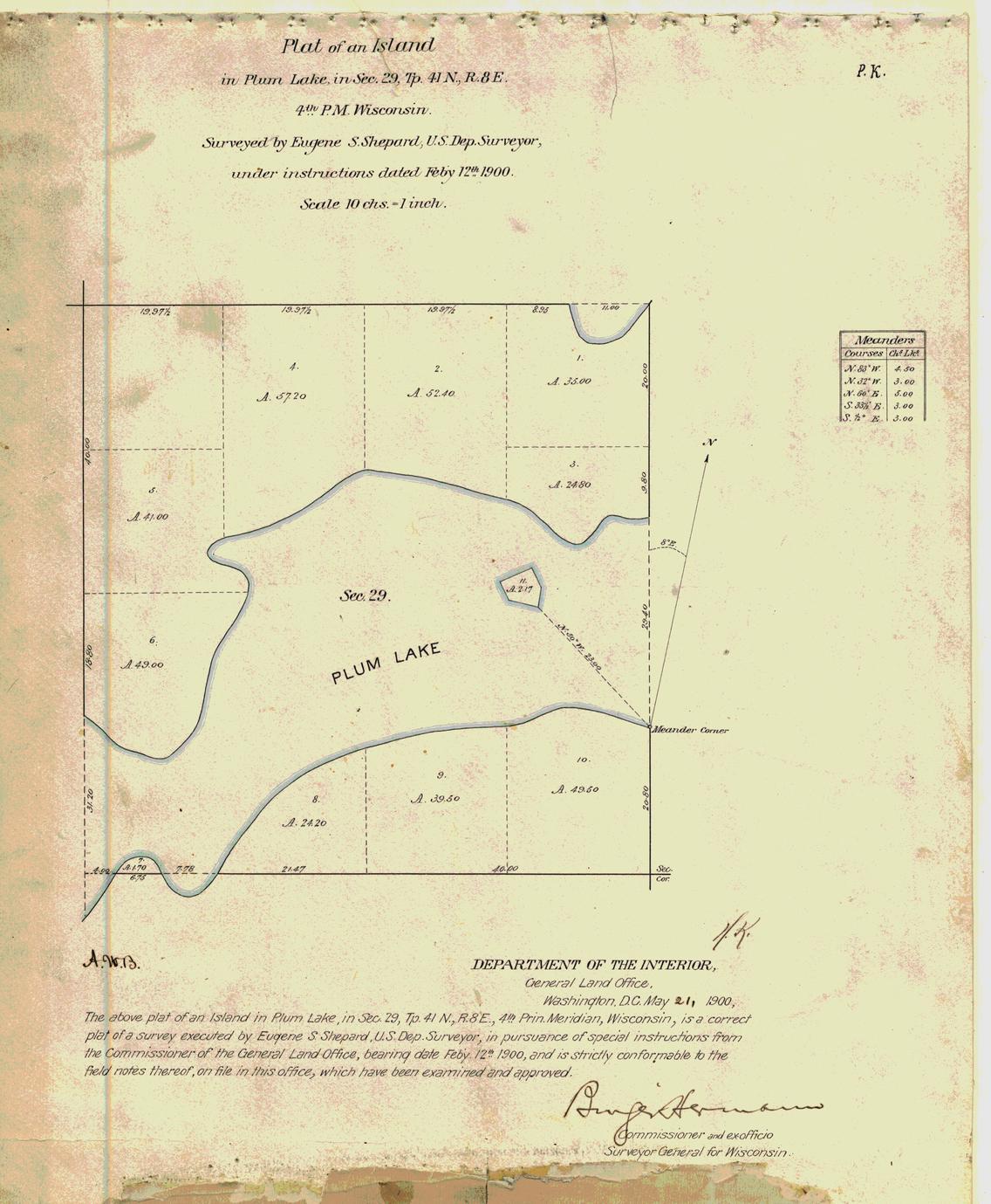 [Public Land Survey System map: Wisconsin Township 41 North, Range 08 East]