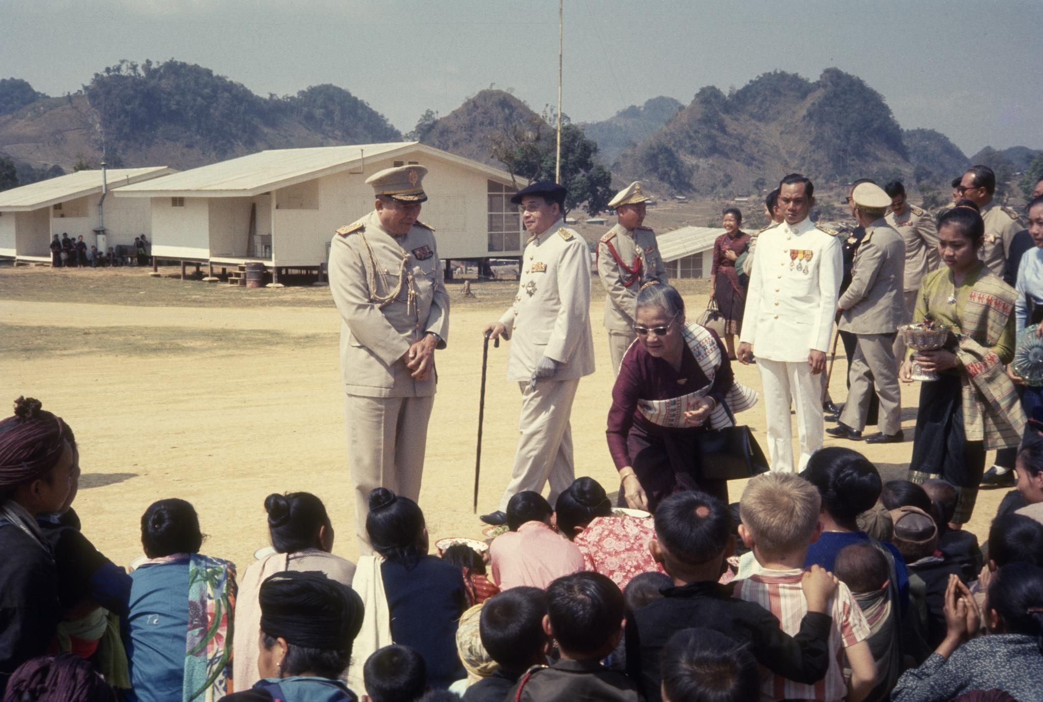 King Savang Vatthana and Queen Khamphoui