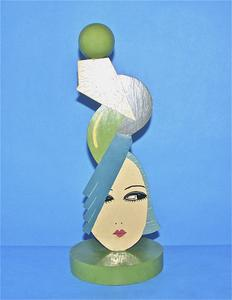 Green Art Deco hat stand