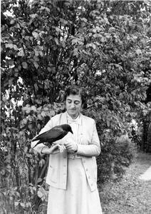 Estella Bergere Leopold with crow