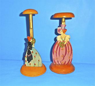 Ball gown themed hat stands