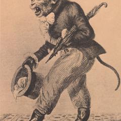 Victorian Clothed Capuchin Print