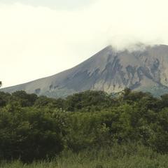 The active volcano, Volcán Telica, northeast of León