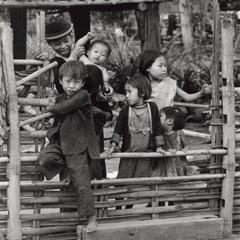 White Hmong children in Houa Khong Province