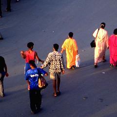 People Walking at Djemaa el-Fna Square