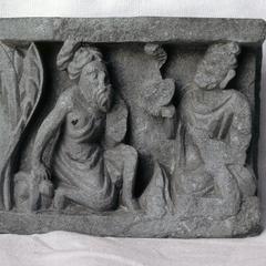 NG184, The Buddha Presents the Serpent to Kāśyapa