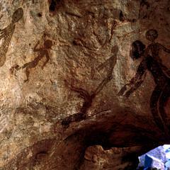 Petroglyph : Many Human Figures