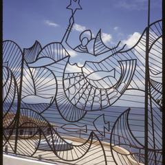 Ironwork fence by Carybé