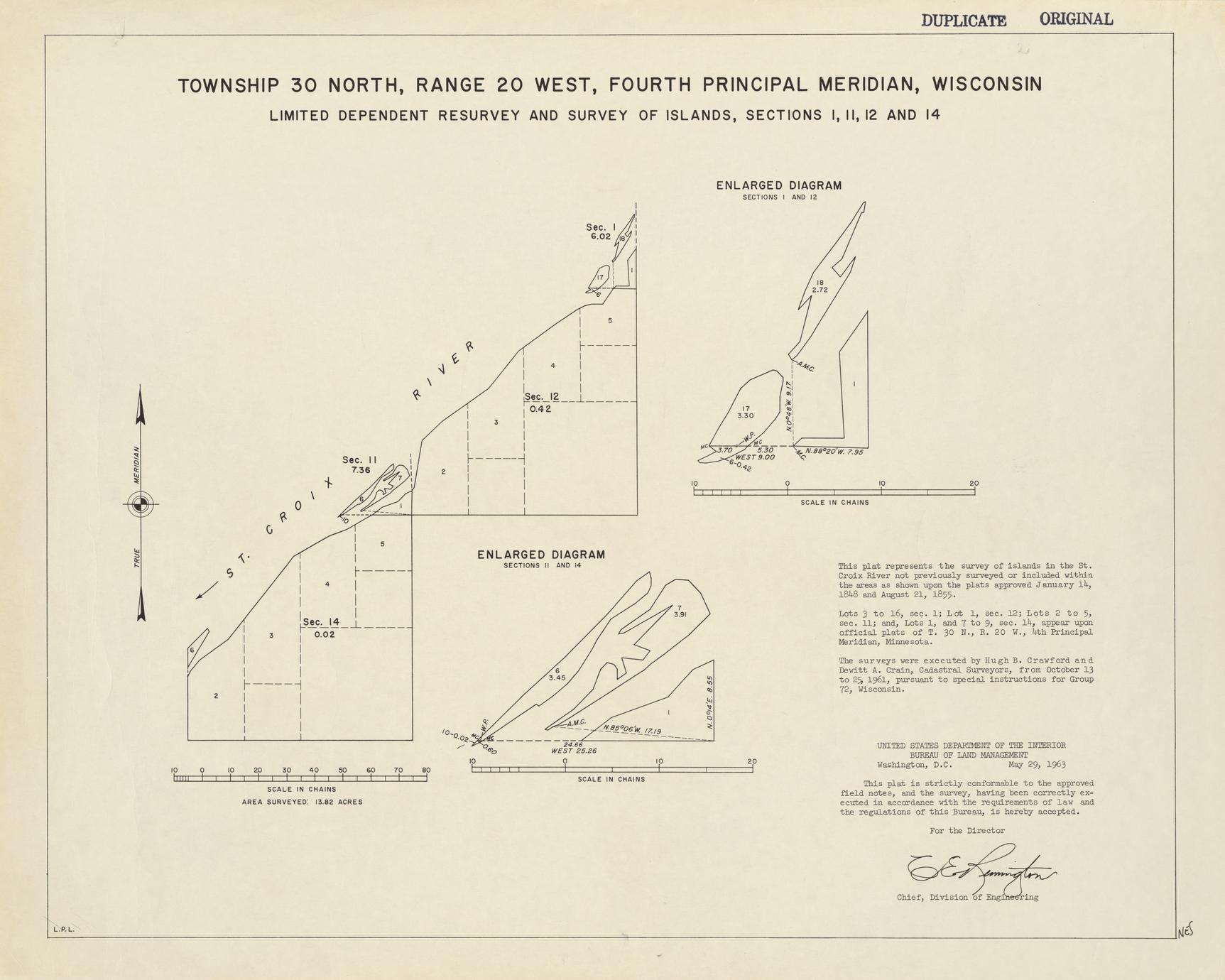 [Public Land Survey System map: Wisconsin Township 30 North, Range 20 West]