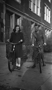 Students on bikes