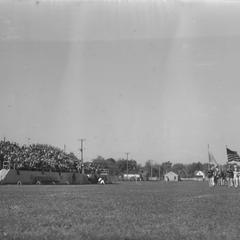 Marching band at football game