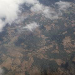 Aerial view of landscape west of Guatemala City