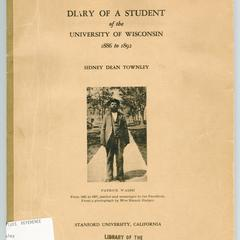 Diary of a student of the University of Wisconsin, 1886 to 1892