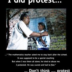 I did protest...