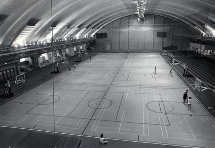 Basketball courts inside the Sports Center